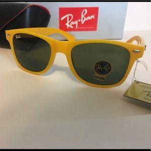 Ray-Ban yellow frames sunglasses
